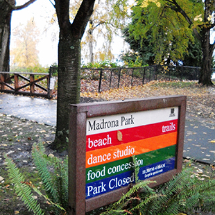 Madrona Park Sign