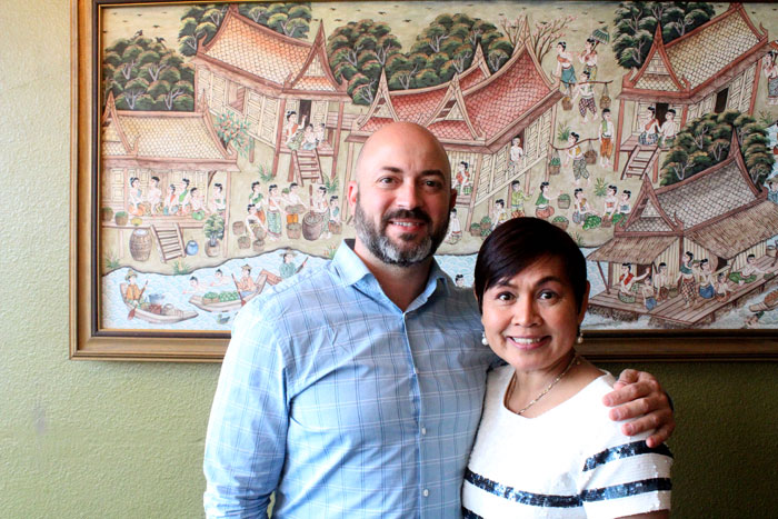 Photos by Brandon Macz: Bamboo Thai by Mind owners Sam Alameddine and Duanchai 'Mind' Stantus are focused on good food and improved service in Madison Park.